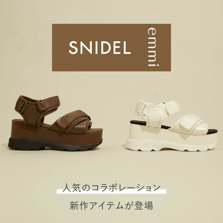 SNIDEL × emmi SNEAKER SOLE SANDALS