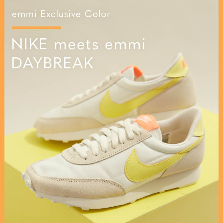emmi Exclusive Color NIKE meets emmi DAYBREAK