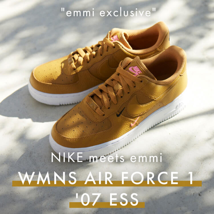 NIKE meets emmi WMNS AIR FORCE 1 '07 ESS