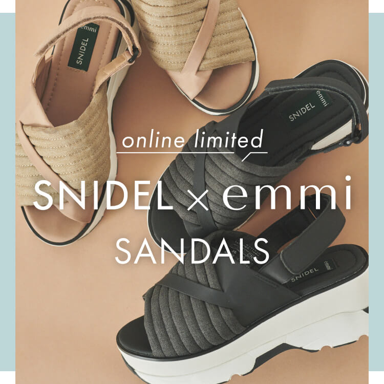 online limited SNIDEL × emmi SANDALS