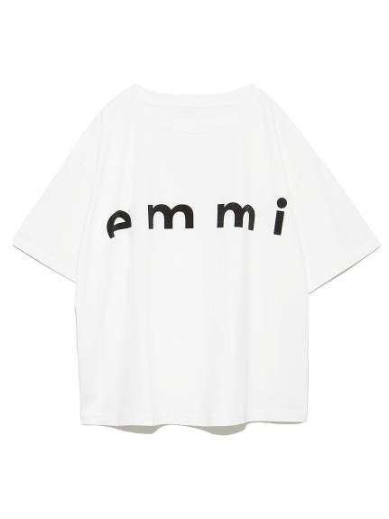 【emmi atelier】emmiロゴTシャツ(WHT-F)