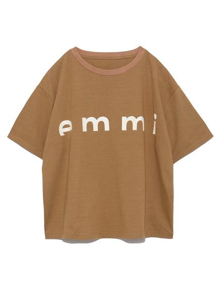 【emmi atelier】emmiロゴTシャツ(BRW-F)