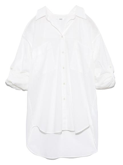 【emmi atelier】リラックスシャツ(WHT-0)