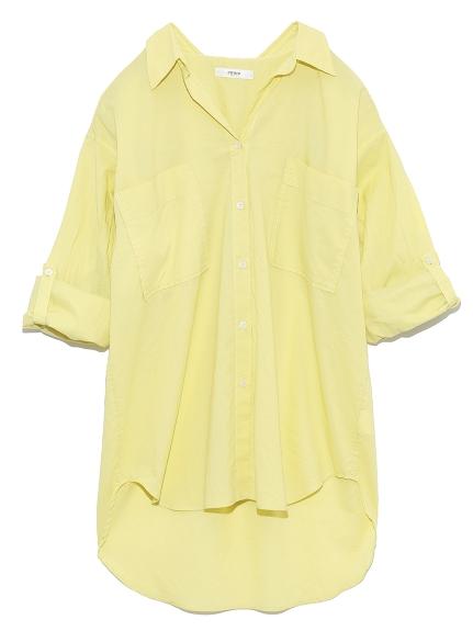 【emmi atelier】リラックスシャツ(LIME-0)