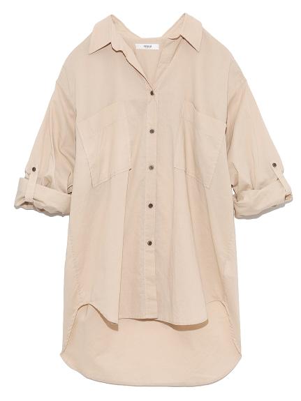 【emmi atelier】リラックスシャツ(BEG-0)