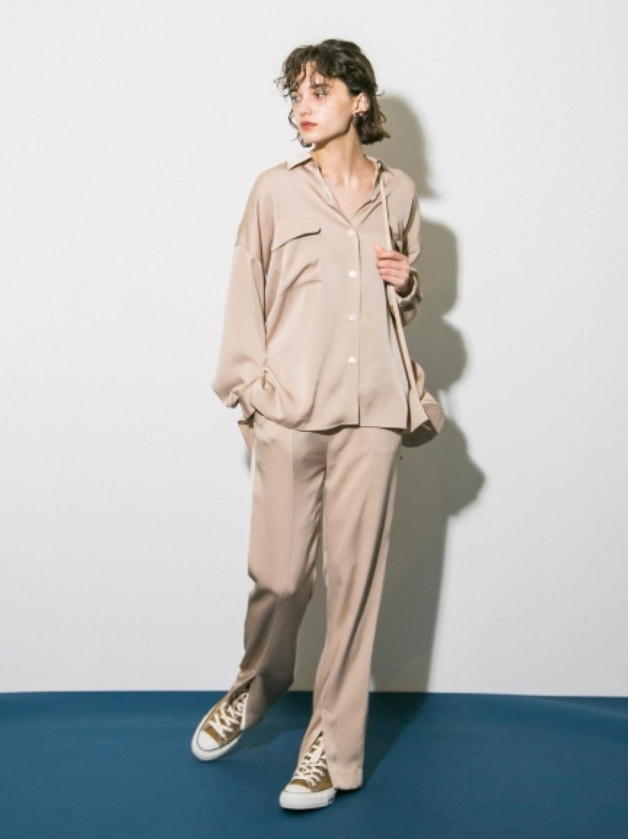 【emmi atelier】ワッシャーイージーシャツ(BEG-0)