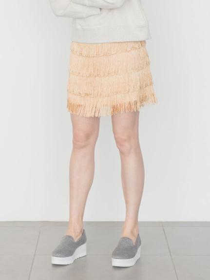 【emmi atelier】フリンジコンパクトスカート
