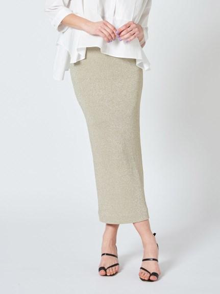【emmi atelier】ラメニットスカート