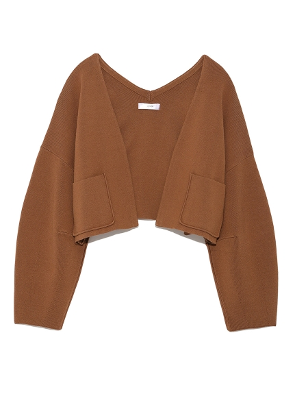 【emmi atelier】ショートニットジャケット