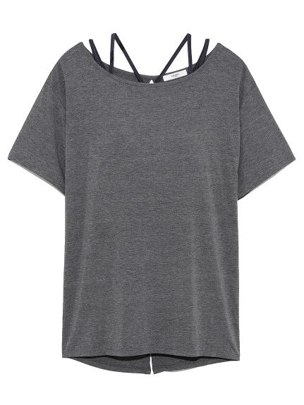 【emmi yoga】ブラセットTシャツ(CGRY-0)