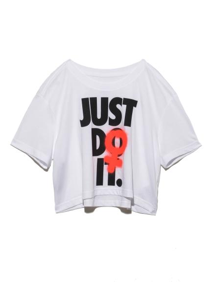 【NIKE】ナイキ ウィメンズ REBEL クロップ 2 Tシャツ(WHT-S)