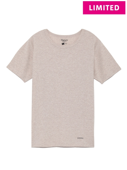【Hanes×emmi】COLORS crew neck T-shirts / emmi