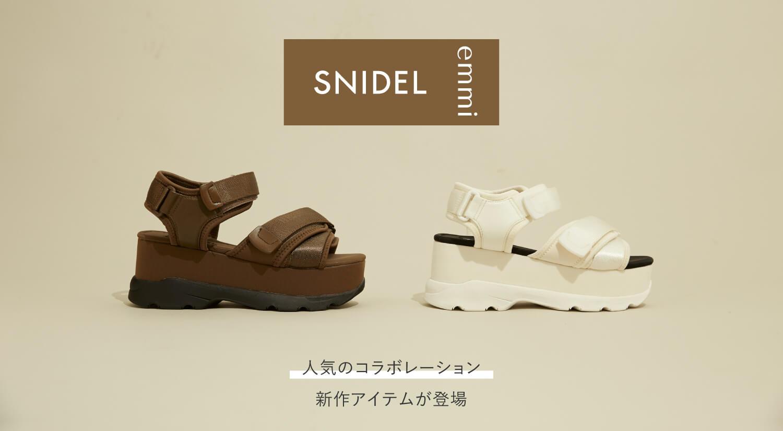 SNIDEL × emmi SNEAKER SOLE SANDALS