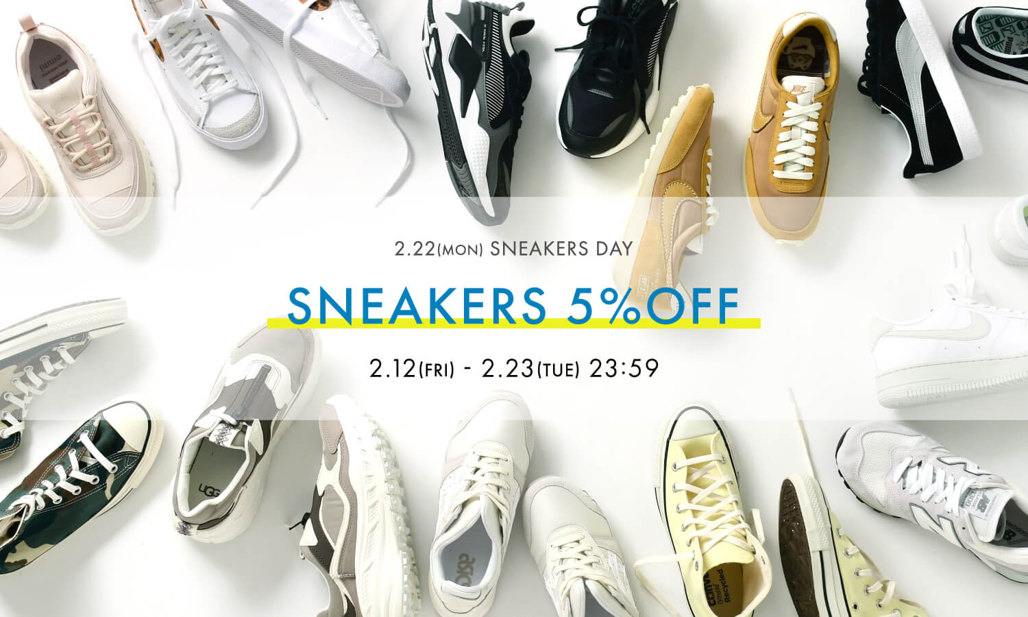 SNEAKERS 5%OFF