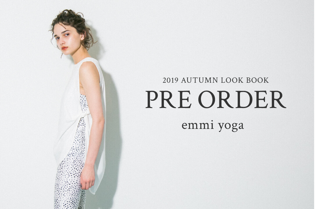 2019 AUTUMN LOOK BOOK PRE ORDER emmi yoga