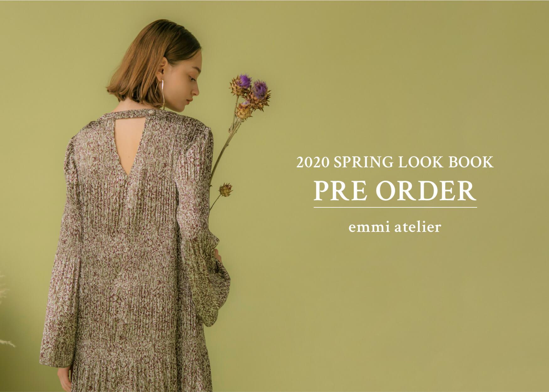 emmi atelier 2020 SPRING LOOK BOOK PRE ORDER